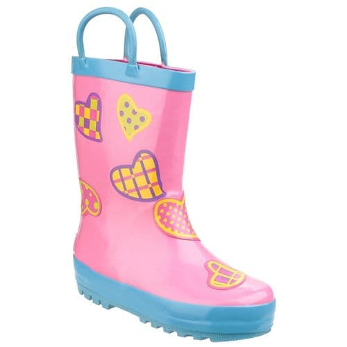 Cotswold Puddle Childrens Wellingtons Hearts